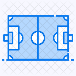 Cricket Pitch Colored Outline Icon
