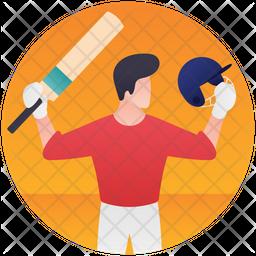Cricket Player Icon