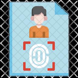 Criminal Fingerprint Icon