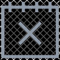Cross Calendar Icon