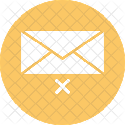 Cross With Envelop Icon