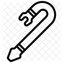 Crowbar Line Icon