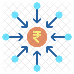 Crowdfunding Rupee Icon