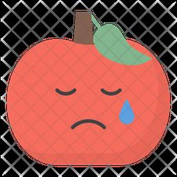Cry Apple Face Emoji Icon