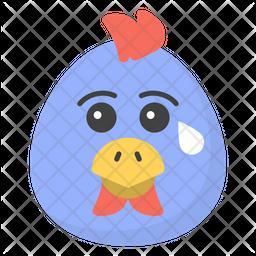 Crying chicken Face Emoji Icon