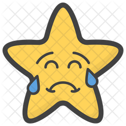 Crying Star Emoji Icon