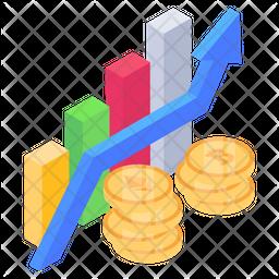 Crypto Growth Isometric Icon