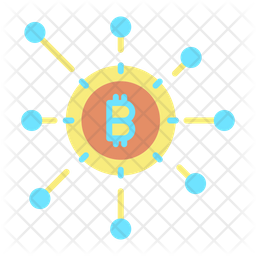 Cryptocurrency Network Glyph Icon