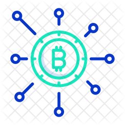 Cryptocurrency Network Colored Outline Icon