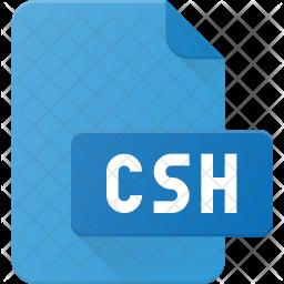 Csh file Flat Icon