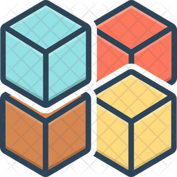 Cube Graphic Of Squares Icon