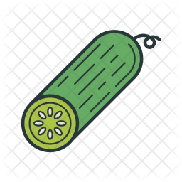 Cucumber, Vegetable, Food, Agriculture, Garden, Farming Icon