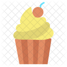 Cup Cake Flat Icon