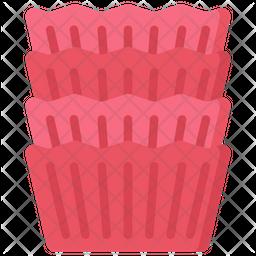 Cupcake cases Icon