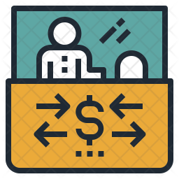 Currency Exchange Counter Icon