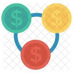 Currency flow Flat Icon