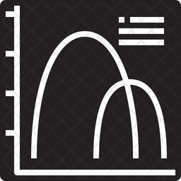 Curved graph Icon