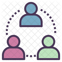 Customer Community Colored Outline Icon