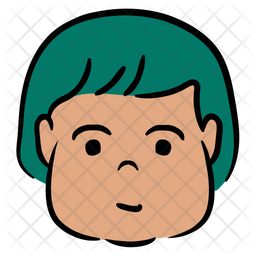 Cute Avatar Colored Outline Icon
