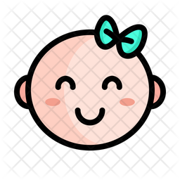 Cute Baby Colored Outline Icon