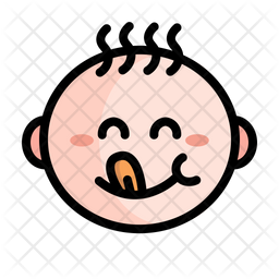 Cute Baby Boy Colored Outline Icon