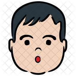 Cute Boy Colored Outline Icon