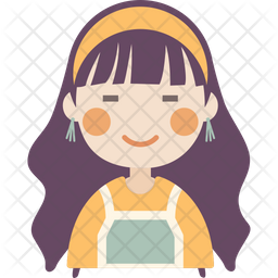 Cute Girl Icon Of Flat Style Available In Svg Png Eps Ai Icon Fonts