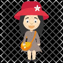 Cute Little Girl Icon