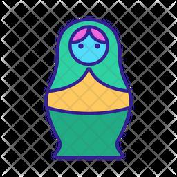 Cute Matryoshka Doll Icon