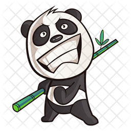 Cute Panda Feeling Excited Icon Of Sticker Style Available In Svg Png Eps Ai Icon Fonts