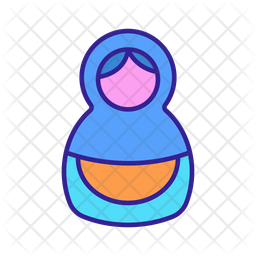 Cute Russian Matryoshka Icon