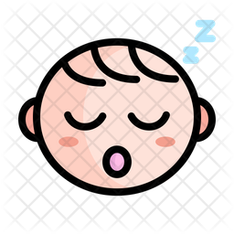 Cute Sleeping Baby Icon