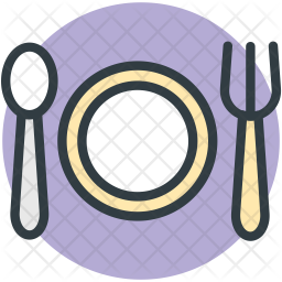 Cutlery Colored Outline Icon