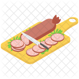 Cutting Sausages Board Icon