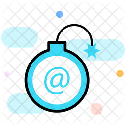 Cyber Bomb Colored Outline Icon