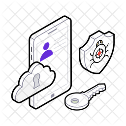 Cyber Security Isometric Icon