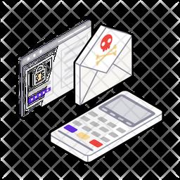 Cyber Threat Isometric Icon