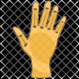 Cyborg Metallic Hand Icon