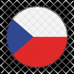 Czech Republic Flat  Flag Icon