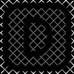 D Letter Icon