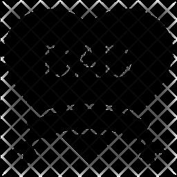Dad Heart Glyph Icon