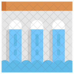 Dam Flat Icon