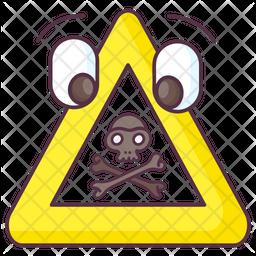 Danger Sign Doodle Icon