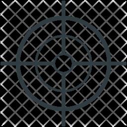 Dartboard Line Icon
