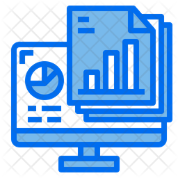 Data Analytics File Dualtone Icon
