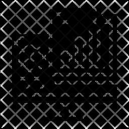 Data Analytics File Glyph Icon