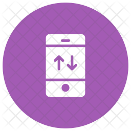 Data Connection Glyph Icon