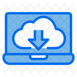 Data Download Colored Outline Icon