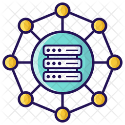 Data Network Icon Of Colored Outline Style Available In Svg Png Eps Ai Icon Fonts