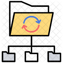 Data Network Colored Outline Icon